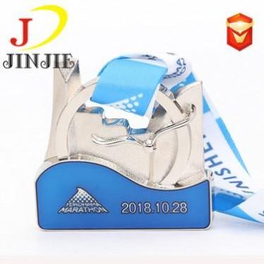 颁奖马拉松奖牌定制 运动会比赛礼品纪念奖章 珐琅烤漆金属工艺品