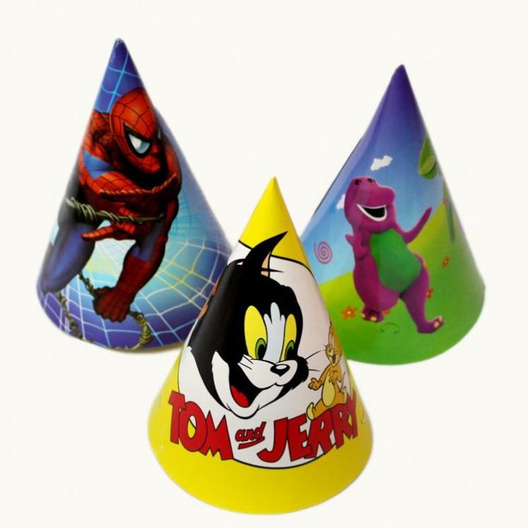 厂家直销24cm生日派对帽派对庆典用品介宝工艺品制造尖顶帽子