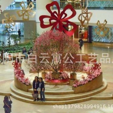 百货商场购物中心春节元宵国庆开业中庭DP点美陈装饰 创意花朵
