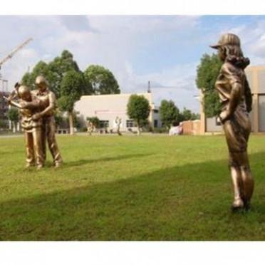 铭海铜师 铸铜人物雕塑订做 西方人物雕塑工艺品厂家