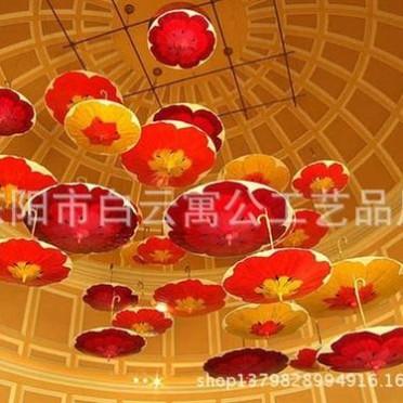 商场酒店百货公司购物中心开业庆典中庭中空吊饰美陈装饰 吊伞