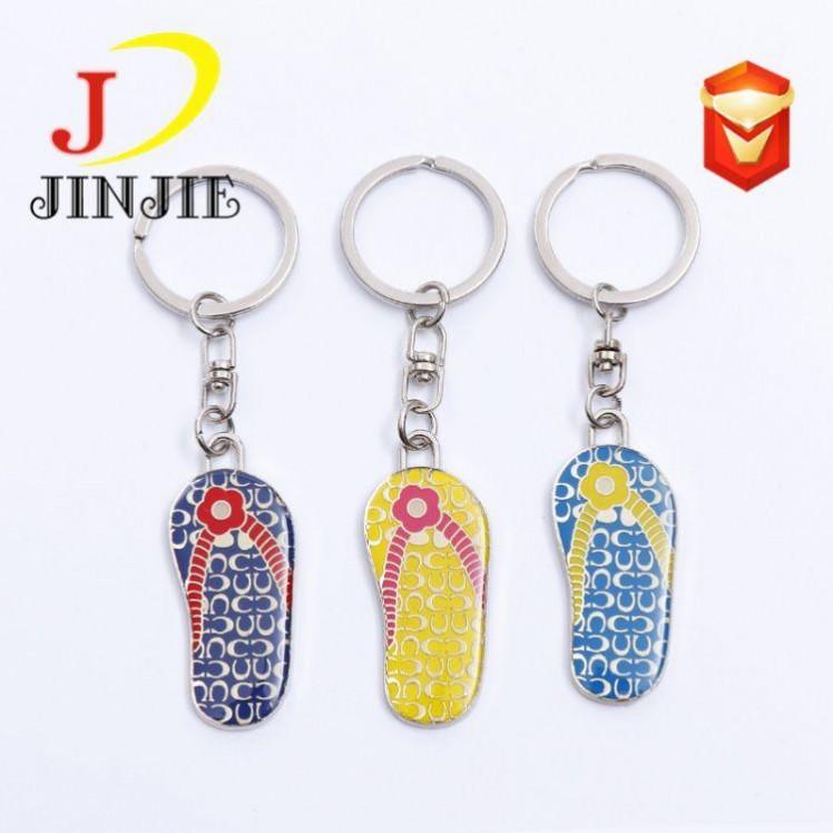 鞋子创意模型钥匙扣 印刷滴胶钥匙链挂件 厂家定制logo广告礼品