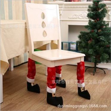 新款圣诞节装饰品 圣诞桌脚套 圣诞椅子凳子脚套 圣诞酒瓶装饰套