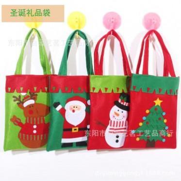 圣诞节装饰品加厚无纺布礼物袋贴画圣诞老人雪人糖果袋手提礼品袋