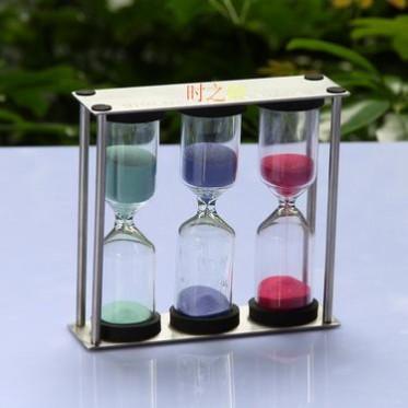 时之砂金属玻璃工艺制品1/3/5分钟泡茶茶叶配件刷牙计时专用礼品