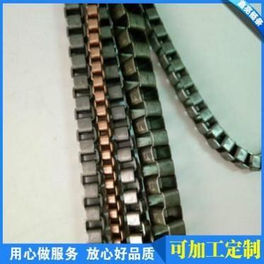 3.8四边磨面铝链,金色时尚箱包手袋挂链, 金属装饰链挂链