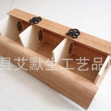 竹帘包装盒 手工编织印花竹帘套盒 环保包装盒