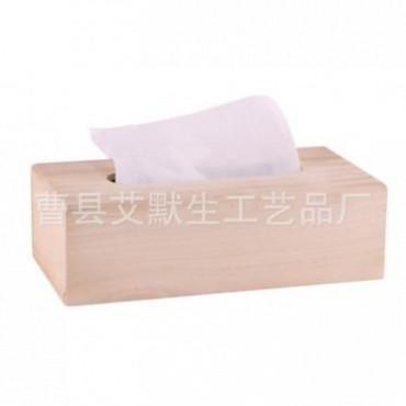 厂家定做批发桐木抽纸盒 木制收纳整理纸巾盒 家居纸抽盒车用