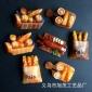 旅游纪念品浮雕仿玉树脂冰箱贴面包美食系列、磁性贴墙壁装饰贴